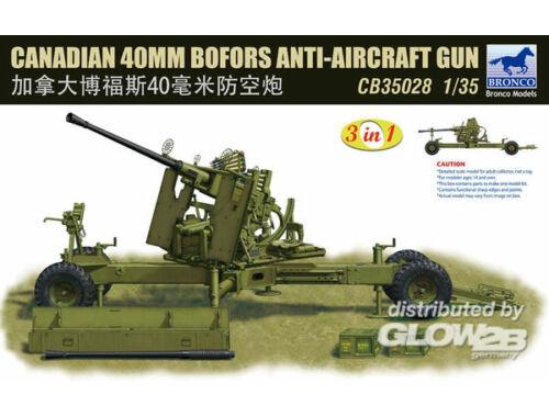 Bronco Canadian 40mm Bofors Anti-Aircraft Gun 1:35 (CB35028)