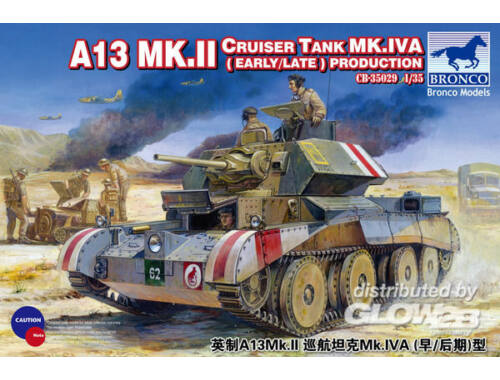 Bronco A13 Mk.II Cruiser Tank Mk.IVA(Early/Late Production 1:35 (CB35029)