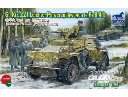 Bronco Sd.KFZ.221 Leichter Panzerspahwagen(s.Pz B.41) 1:35 (CB35033)
