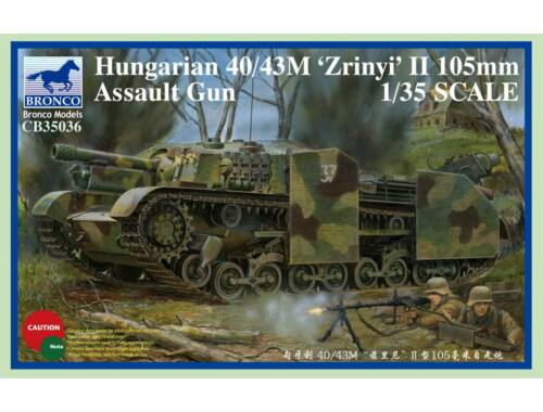 Bronco Hungarian 40/43M Zrinyi II 105mm Assault Gun 1:35 (CB35036)