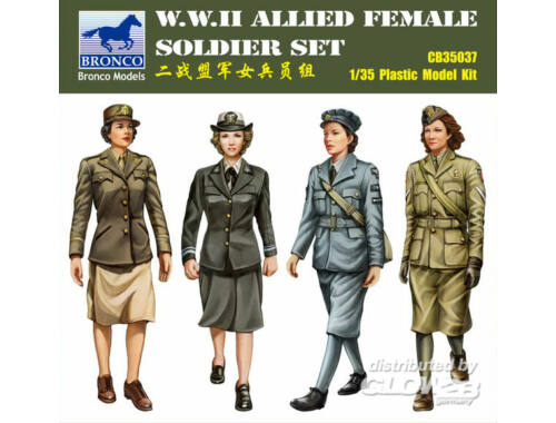 Bronco W.W.II Allied Female Soldier Set(4 Figur 1:35 (CB35037)