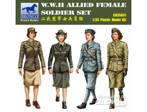 Bronco W.W.II Allied Female Soldier Set(4 Figur 1:35 (CB35037)