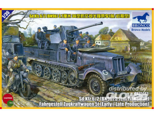 Bronco Sd.kfz 6/2 5t 3.7cm Flak36 half-trackBN9 Early/Late Prod. 1:35 (CB35043)
