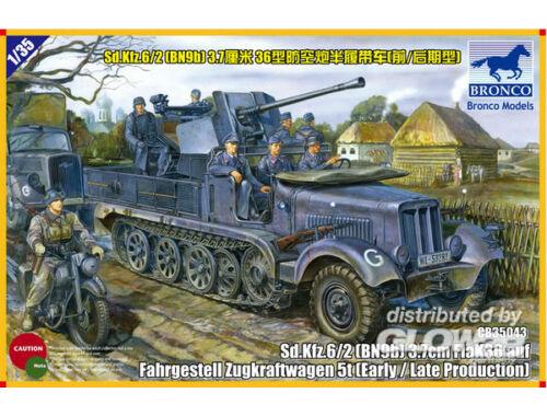 Bronco Sd.kfz 6/2 5t 3.7cm Flak36 half-trackBN9 Early/Late Prod. 1:35 (CB35043)