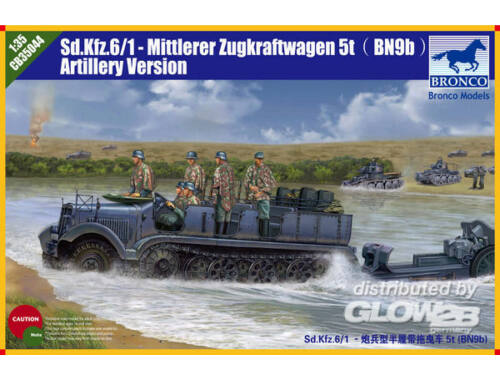 Bronco Sd.kfz 6 5(t) Typ BN9 Artillery Version 1:35 (CB35044)