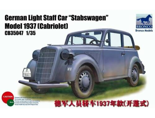 Bronco German Light Staff Car Stabswagen Mod. 1937 (Cabriolet) 1:35 (CB35047)