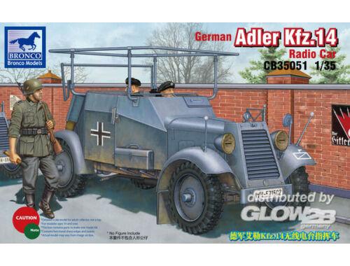 Bronco German Adler Kfz.14 Radio Armored Car 1:35 (CB35051)