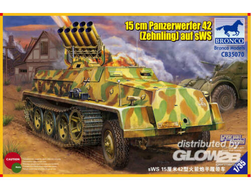 Bronco 15cm Panzerwerfer 42 (Zehnling) auf sWS 1:35 (CB35070)