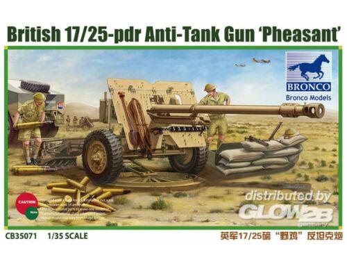 Bronco British 17/25 pdr Anti-Tank Gun PHEASANT 1:35 (CB35071)