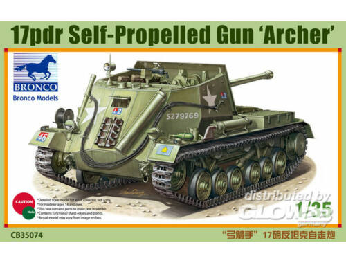 Bronco 17pdr Self-Propelled Gun Archer 1:35 (CB35074)