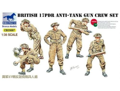 Bronco 17pdr Anti-Tank Gun Crew Set 1:35 (CB35087)