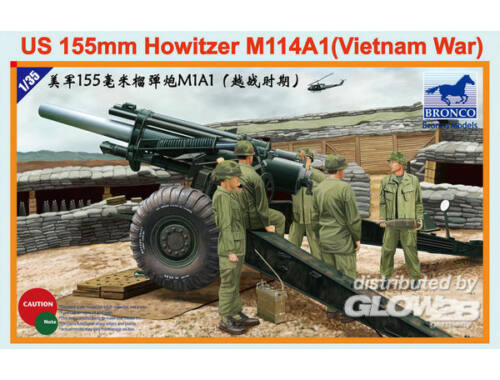 Bronco US 155mm Howitzer M114A1 (Vietnam War) 1:35 (CB35102)