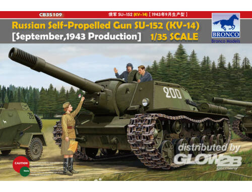 Bronco Russian Self-Propelled Gun SU-152(KV-14) -September 1943 Produktion- 1:35 (CB35109)