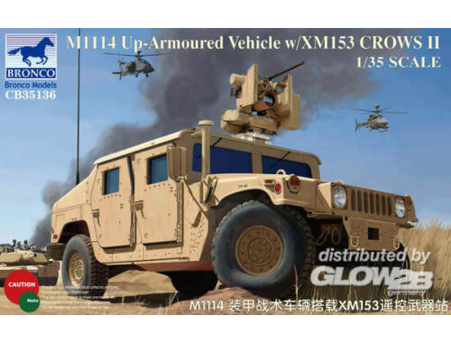 Bronco M1114 Up-Armoured Vehicle w/XM153CrowsII 1:35 (CB35136)
