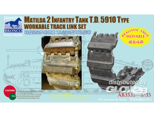 Bronco Matilda 2 T.D.5910 Type Workable Track 1:35 (AB3531)