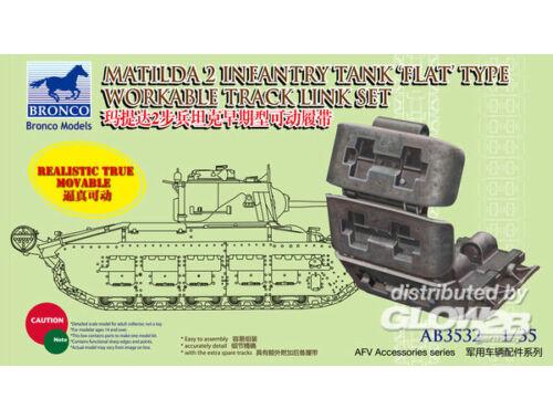 Bronco Matilda 2 Flat Type Workable Track Link 1:35 (AB3532)