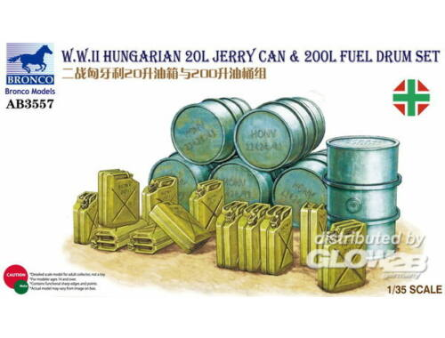 Bronco WWII Hungarian 20L Jerry Can   200L Fuel Drum 1:35 (AB3557)