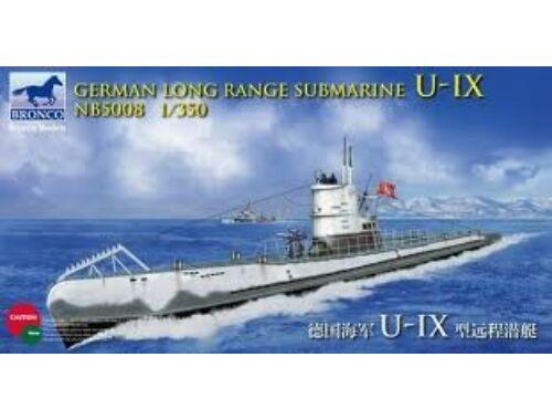 Bronco German Long Range Submarine Type U-IX A 1:350 (NB5008)