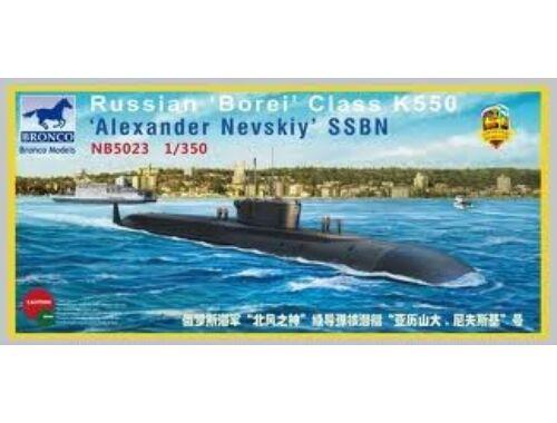 Bronco Russian'Borei'Class K-550'AlexanderNevsk 1:350 (NB5023)