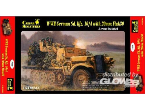 Caesar WWII German Sd.Kfz.10/4 w/20mm Flak 30 1:72 (7208)
