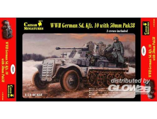 Caesar WWII German Sd.Kfz.10 with 50mm Pak 38 1:72 (7209)