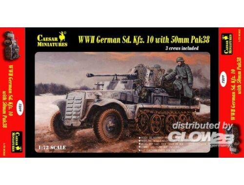 Caesar WWII German Sd.Kfz.10 with 50mm Pak 38 1:72 (7209)