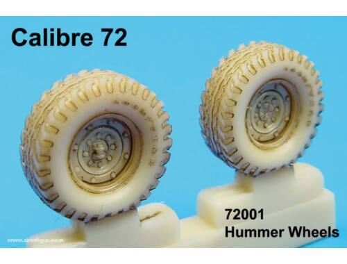 Calibre Hummer Weighted Wheels 1:72 (72001)