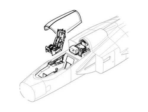 CMK JAS 39 Gripen - interior set for ITA 1:48 (4148)