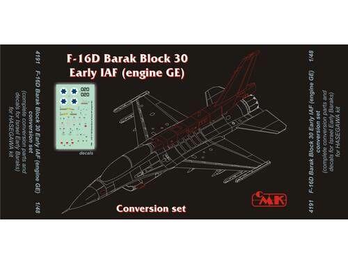 CMK F-16D Barak Block 30 Early IAF(engine GE) con 1:48 (4191)
