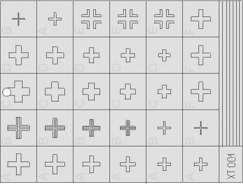 Eduard German Crosses 1 early 1:35 (XT001)