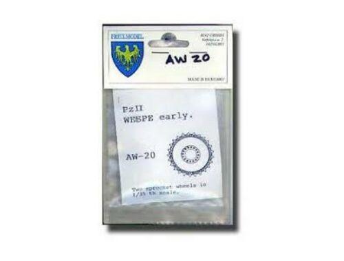 Friul Pz.II. Wespe Metal Wheel Set 1:35 (AW 20)