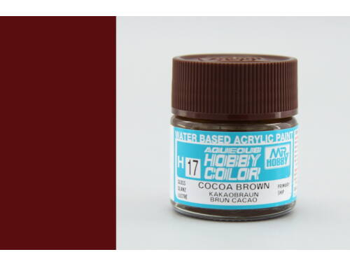 Mr.Hobby Aqueous Hobby Color H-017 Cocoa Brown