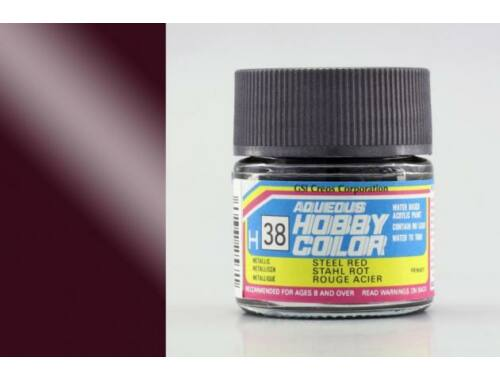 Mr.Hobby Aqueous Hobby Color H-038 Steel Red