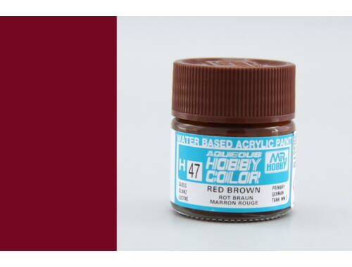 Mr.Hobby Aqueous Hobby Color H-047 Red Brown