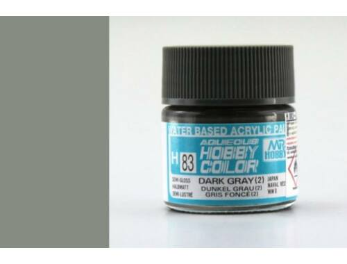 Mr.Hobby Aqueous Hobby Color H-083 Dark Gray (2)