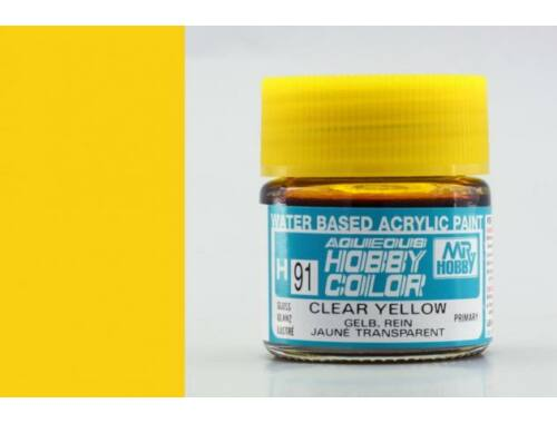 Mr.Hobby Aqueous Hobby Color H-091 Clear Yellow
