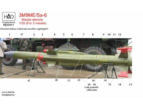 HADmodels 3M9ME Missiles Stencils (35011HJ)