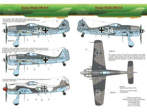 HADmodels Fw-190F-8 matrica 1:48 (48063)