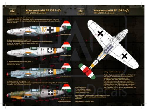 HADmodels Bf-109F4/b matrica 1:48 (48064)