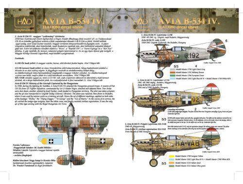 HADmodels Avia B-534 IV matrica 1:48 (48080)