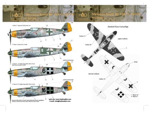 HADmodels Bf-109G-10 matrica 1:48 (48086)