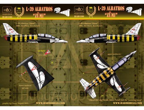 "HADmodels L-39 Albatros ""Zümi"" matrica 1:48 (48100)"