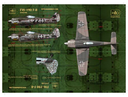 HADmodels Fw-190F-8 matrica 1:48 (48106)