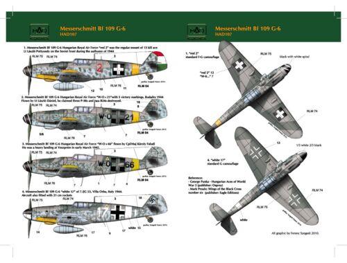 HADmodels Bf-109G-6 matrica 1:48 (48107)