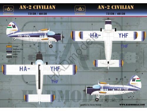 HADmodels An-2 MALÉV matrica 1:48 (48128)