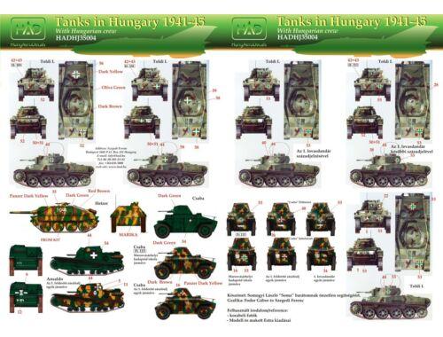 HADmodels Tanks in Hungary 1941-45 part2 matrica 1:72 (72004HJ)
