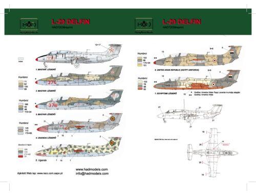 HADmodels L-29 Delfin matrica 1:72 (72039)