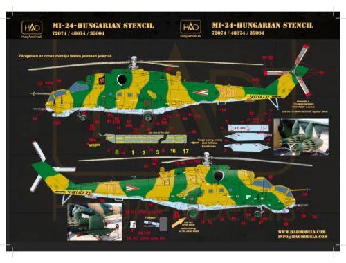 HADmodels Mi-24 üz. felirat matrica 1:72 (72074)