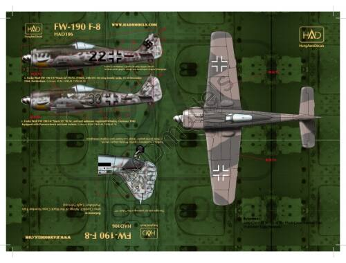 HADmodels Fw-190F-8 matrica 1:72 (72106)