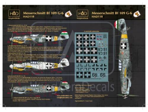 HADmodels Bf-109G-6 matrica 1:72 (72118)